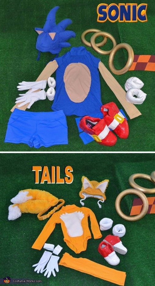 Sonic & Tails costume displays, Sonic & Tails Costumes