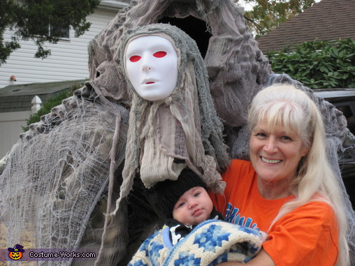 Posing with kids on Halloween, Soul Walker Costume