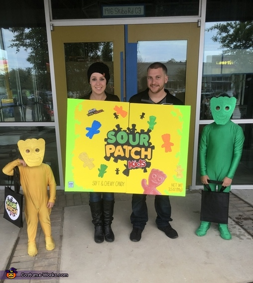 Sour Patch Kids Family Homemade Costume