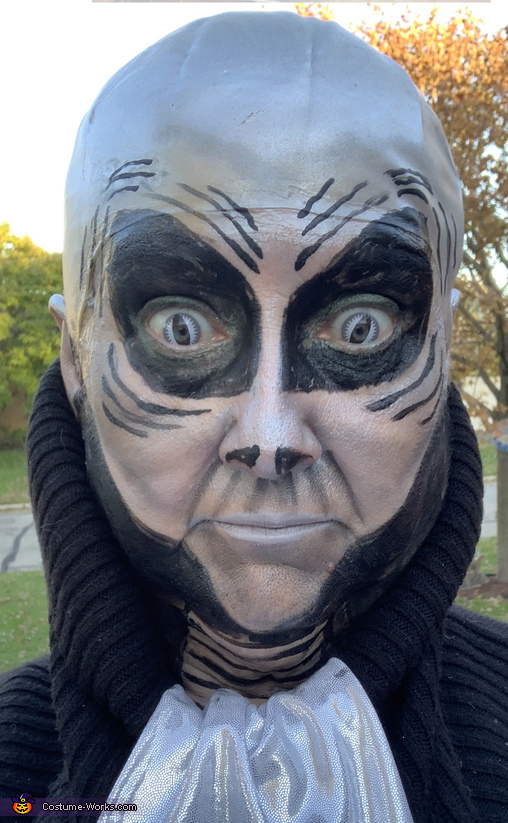 Alien makeup, Space Alien Commander Costume