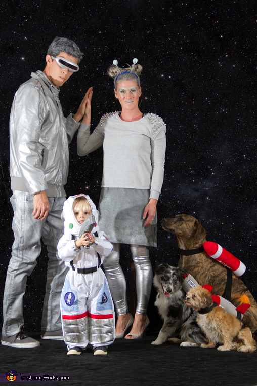 Space Exploration Family Homemade Costume