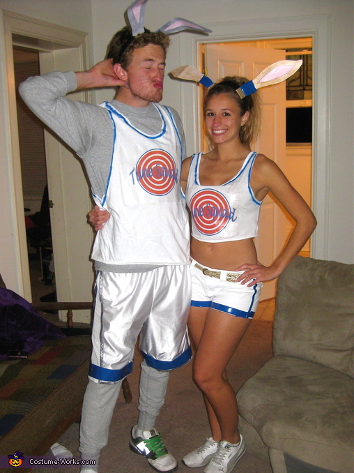 Space Jam Bugs Bunny and Lola Bunny Homemade Costume