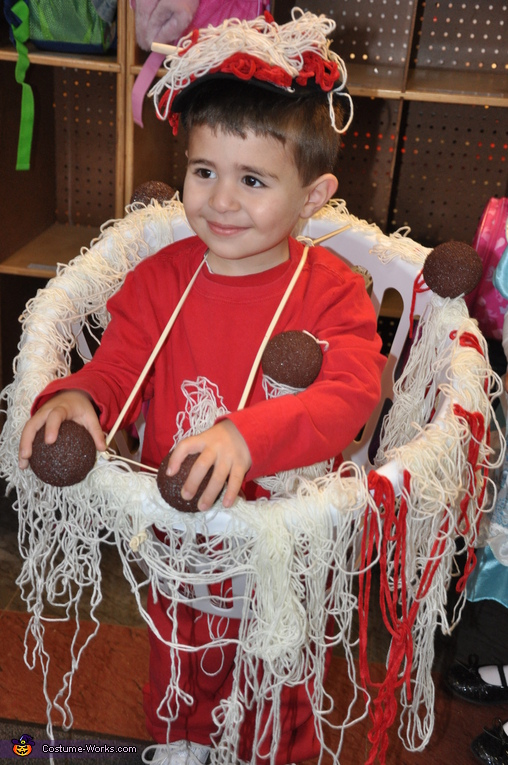 Spaghetti and Meatballs - Homemade costumes for boys