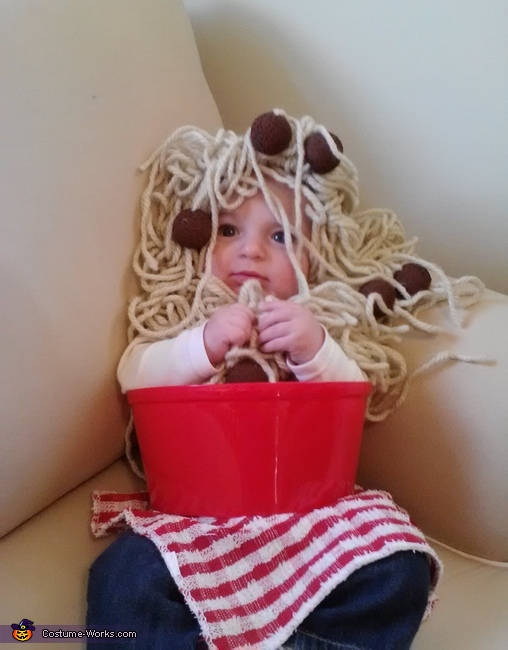 Costume Shot 2,  Spaghetti and Meatballs Costume