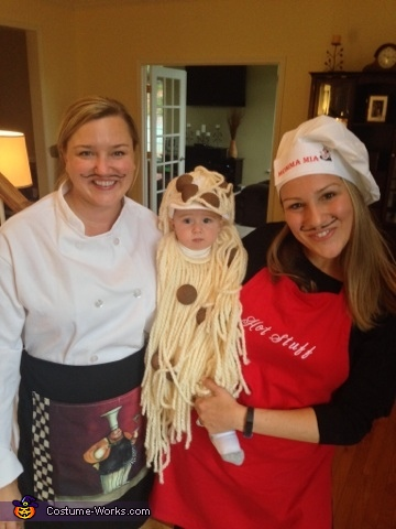 Our Waiter, Momma Mia and the cutest spaghetti and meatballs , Spaghetti and Meatballs Family Costume