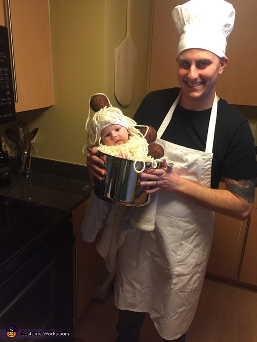 Chef daddy!, Spaghetti and Meatballs Costume