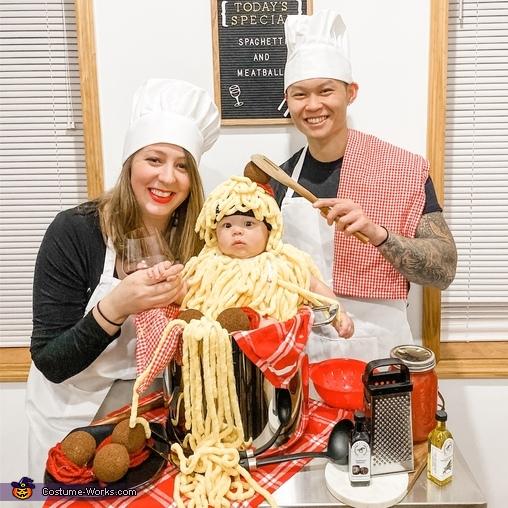 Spaghetti and Meatballs Homemade Costume