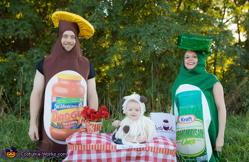 All the fixins!, Family Meal: Spaghetti and Meatballs Baby Costume