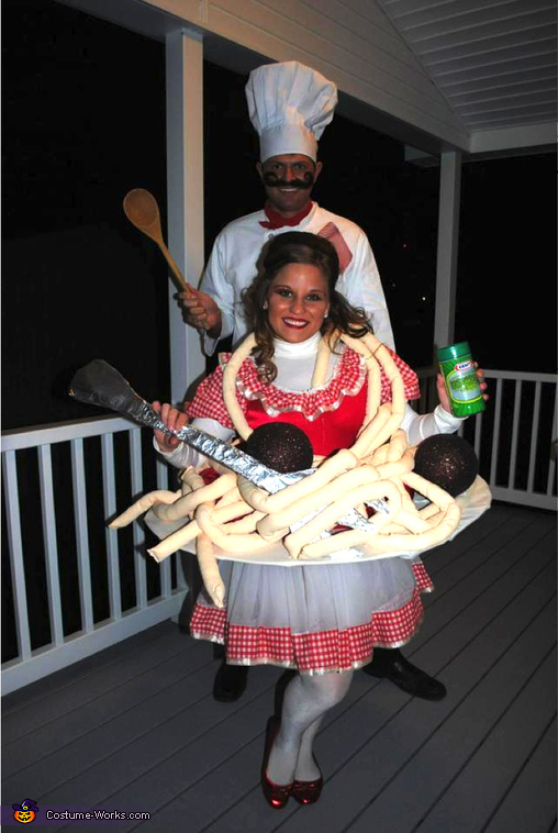 Spaghetti and Meatballs made by the Chef Couples Costume