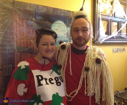 Spaghetti and Prego Sauce Costume