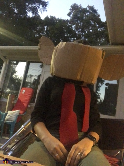 The beginning of a lot of cardboard work..., Speedy Gonzalez Costume