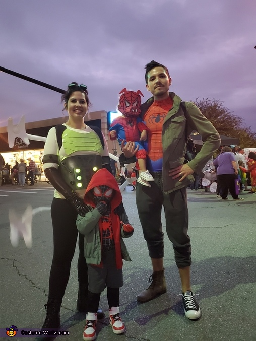 Spiderverse Family Homemade Costume