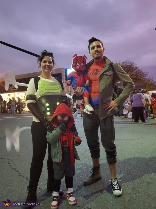 Spiderverse Family Homemade Costume