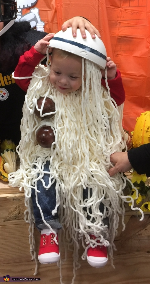 Spilled Spaghetti and Meatballs Costume