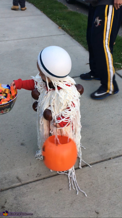 Spilled Spaghetti and Meatballs Homemade Costume