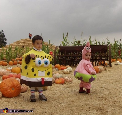 Sponge Bob and Patrick Homemade Costumes