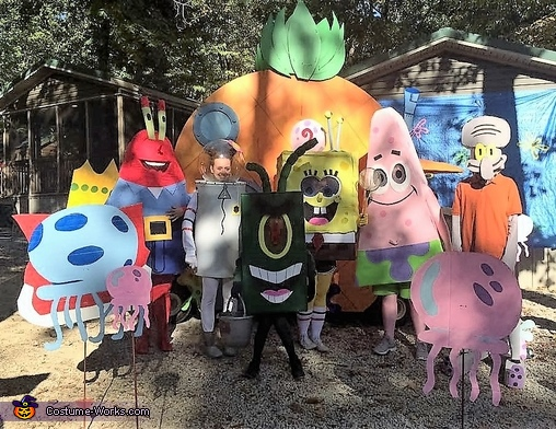 spongebob characters group halloween costume