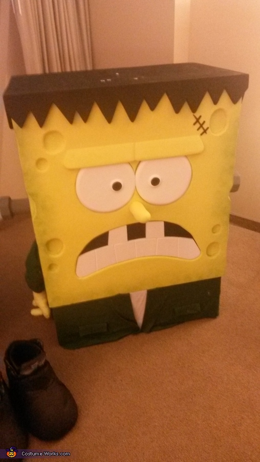 getting ready to show the world , Spongebob Frankenstein Costume