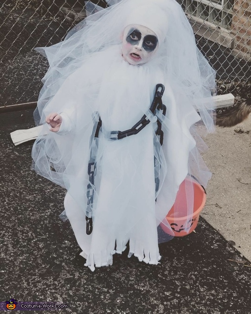 Spooky Ghost Homemade Costume