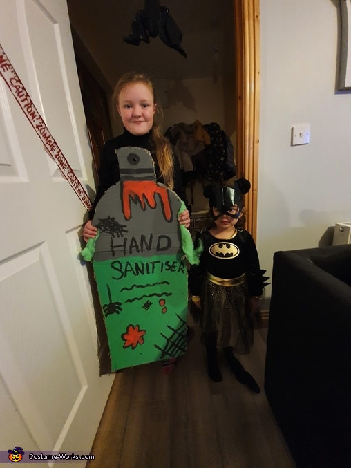 Spooky Hand Sanitiser Homemade Costume