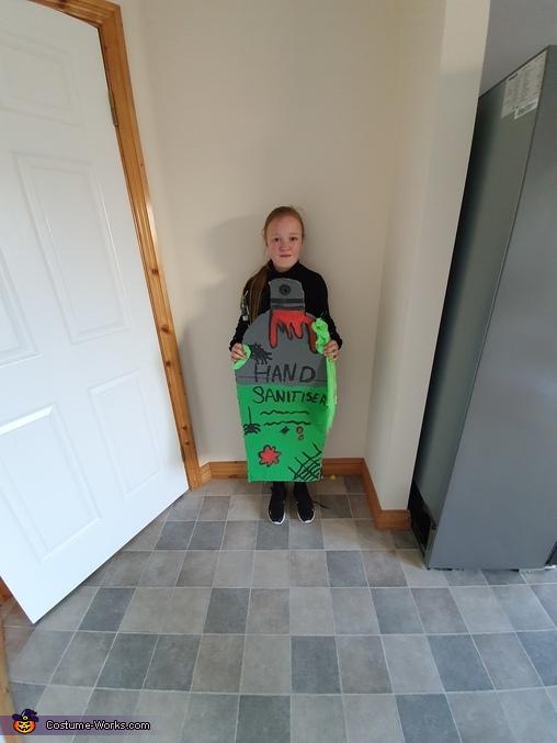 Spooky Hand Sanitiser Homemade Costume