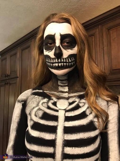 Spooky Skeleton Homemade Costume