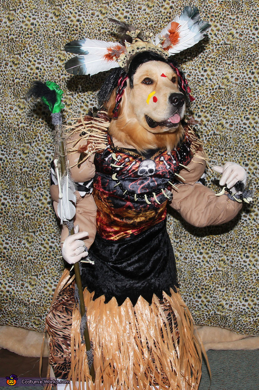 Gryphon the Witch Doctor, Spooky Witch Doctor and Shrunken Head Illusion Costumes