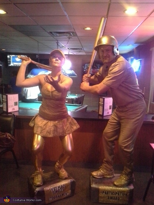 Sports Trophies Couples Costume