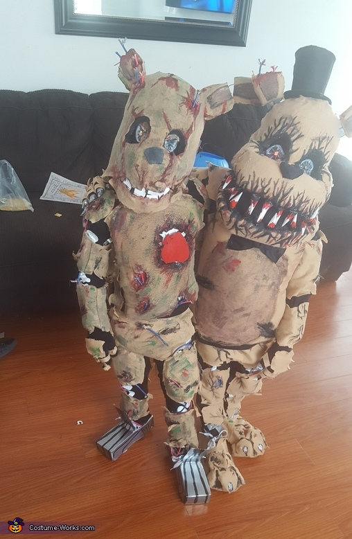 Springtrap & Nightmare Freddy Homemade Costume