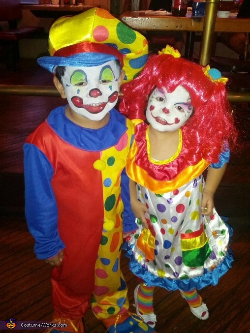Spunky & Sparkle the Clowns Costume