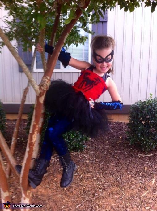 Spunky Spider Girl Homemade Costume
