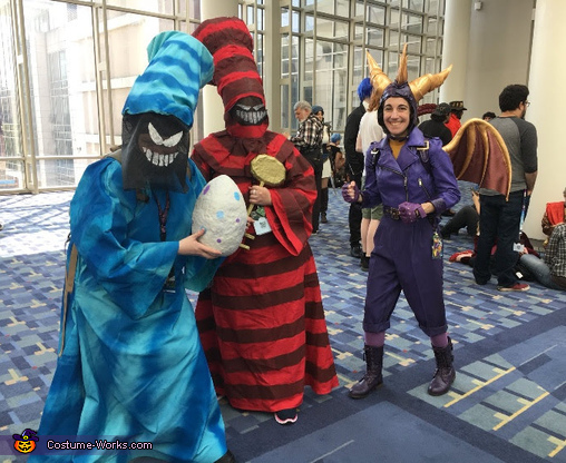 My friends were with me as Egg Thieves from the first Spyro game, Spyro the Dragon Costume