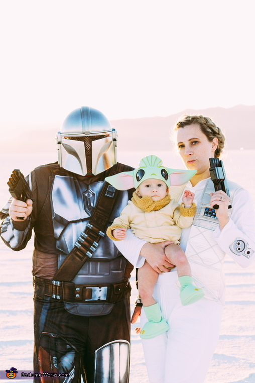 Protecting our baby Yoda, Star Wars Costume