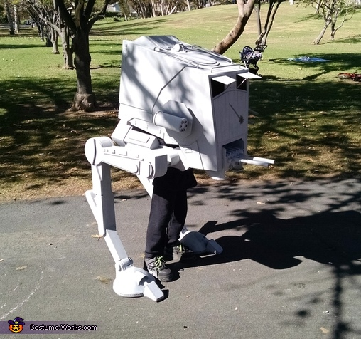 At St at the park, Star Wars AT-ST Walker Costume