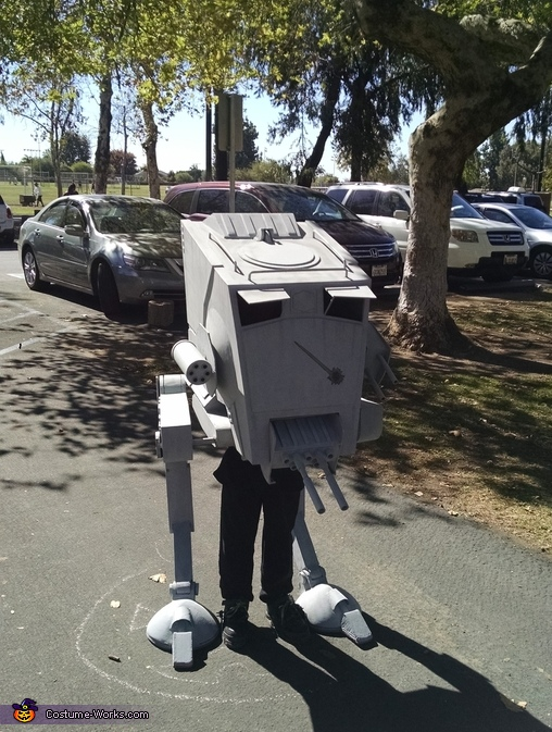 Close up, Star Wars AT-ST Walker Costume