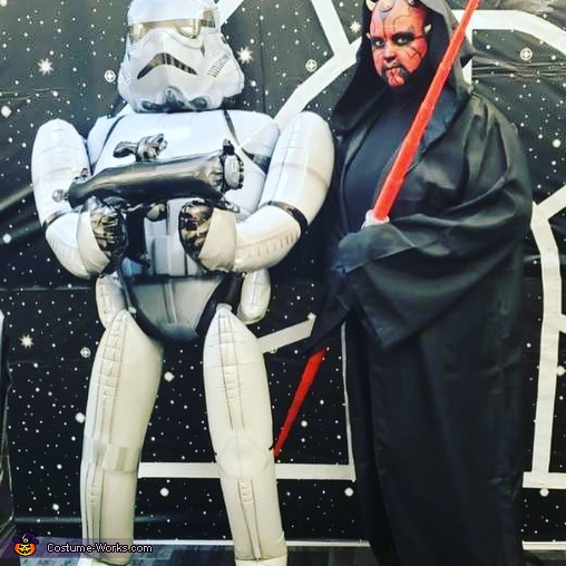 Darth Maul with storm trooper, Darth Maul Costume