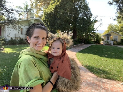 Baby Ewok with Mommy Leia, Star Wars Ewok Costume