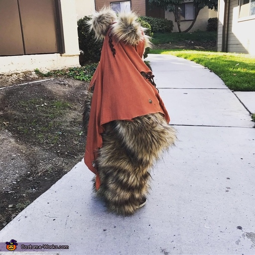 Side view, Star Wars Ewok Costume