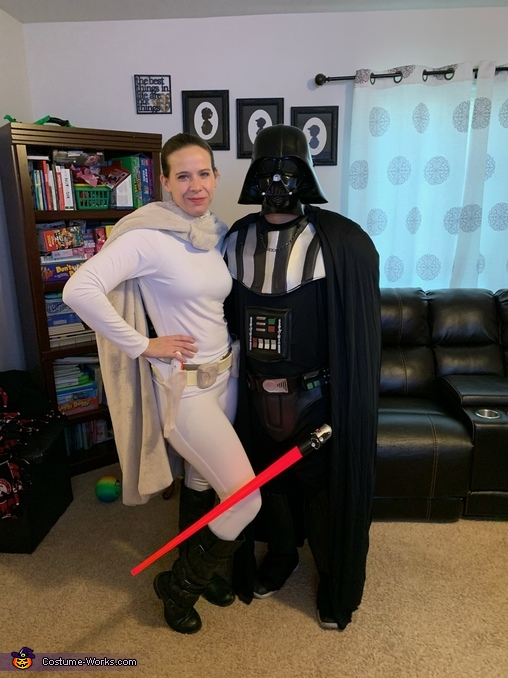 Padme and Darth Vader, Star Wars Family Costume