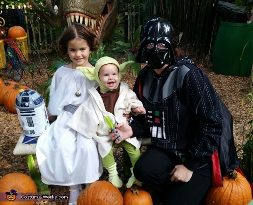 darth mama, princess 'layna' and yoda :), Star Wars Family Costume