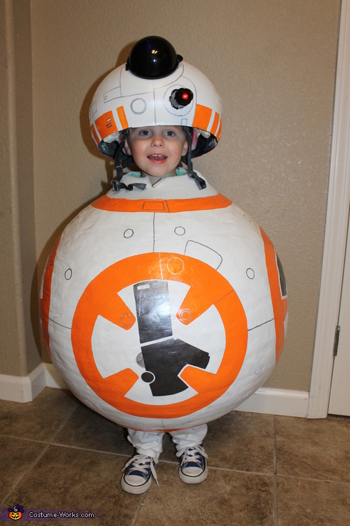 BB8 front view, Star Wars Family Costume