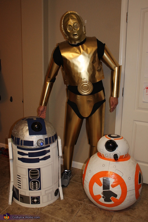 C3PO and his friends, Star Wars Family Costume