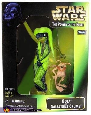 I love photoshop. I'm a collectible!, Star Wars Oola the Twi'lek Costume