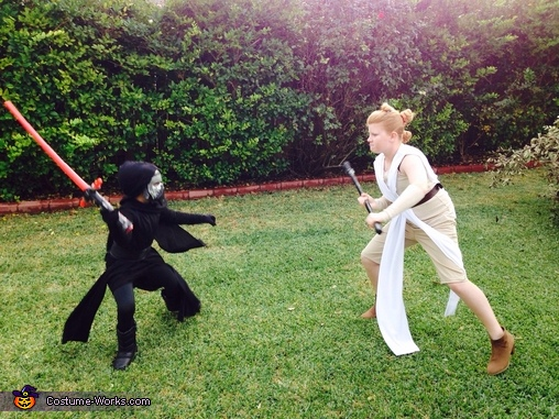 Star Wars Rey Solo and Kylo Ren Homemade Costume