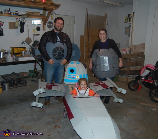Family Photo, Star Wars Star Fighters Costume
