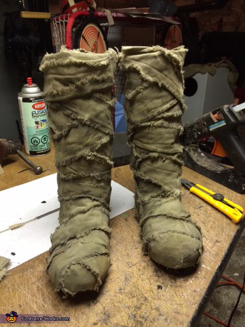 Starting the bandages, Tusken Raider Costume