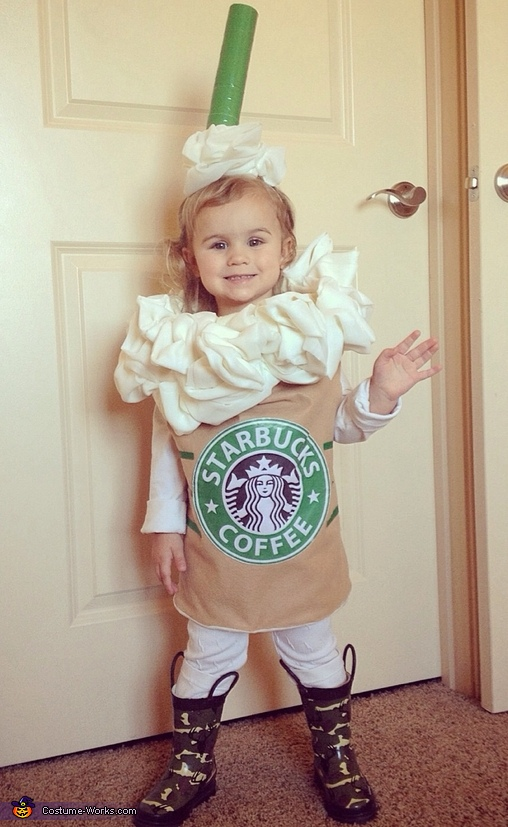 Molly the caramel frappuccino (age 2), Starbucks Baby Costume