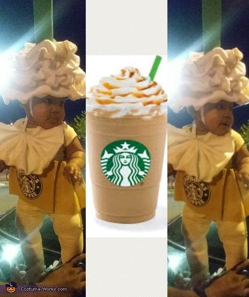 Small Starbucks caramel frape, Starbucks Caramel Frape Costume