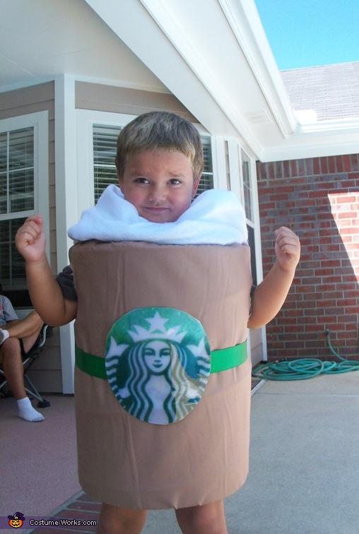 Homemade Starbucks Caramel Frapp Costume