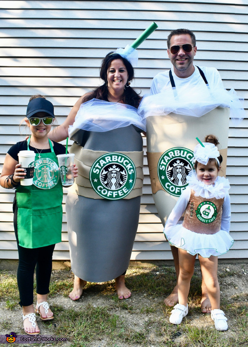 Starbucks Family Homemade Costume